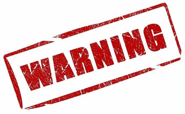 要注意(WARNING)画像