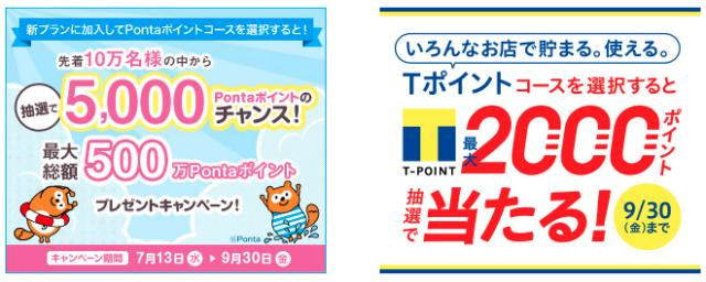 Tポイント・Ponta大量当選!中部も関西も東京電力
