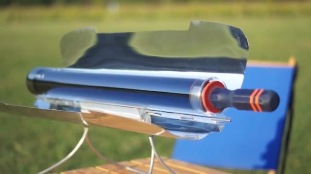 太陽光で調理する「gosun stove(ゴーサンストーブ」