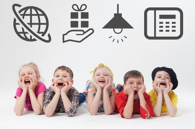 インターネット、電気、プレゼント、電話の料金に悩む子供たち
