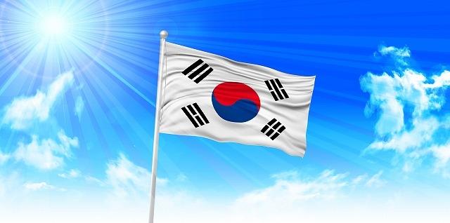 """""""韓国国旗に陽の光"""""""