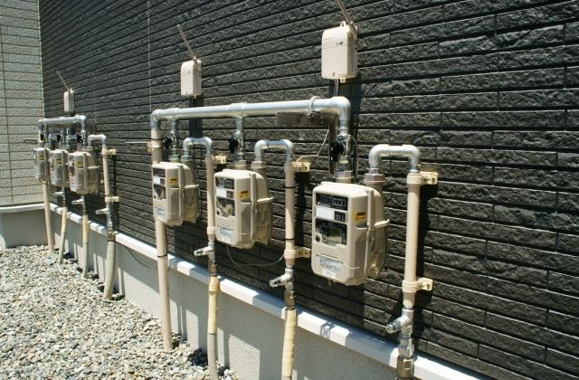 ガス導管の引き込み