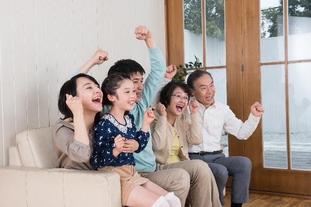 家族で大喜び