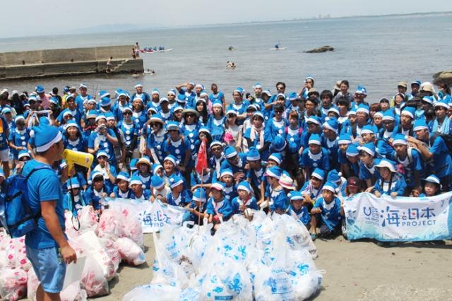 海のゴミ拾い、海と日本project