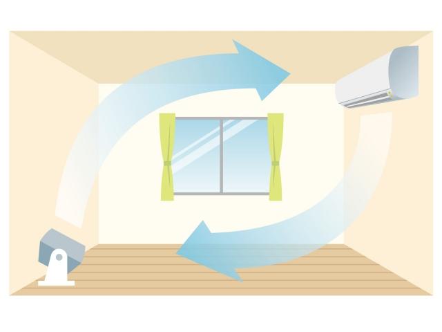 冷房の節電イラスト