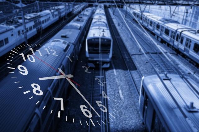 電車と時計
